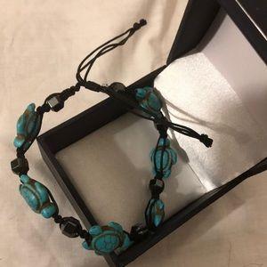 Silver and Hematite Bracelet